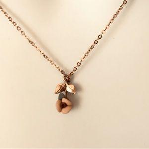 1928 Brand Tiny Rose Necklace